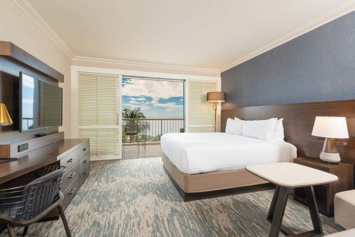 Top-floor Premium Ocean-view rooms have larger balconies