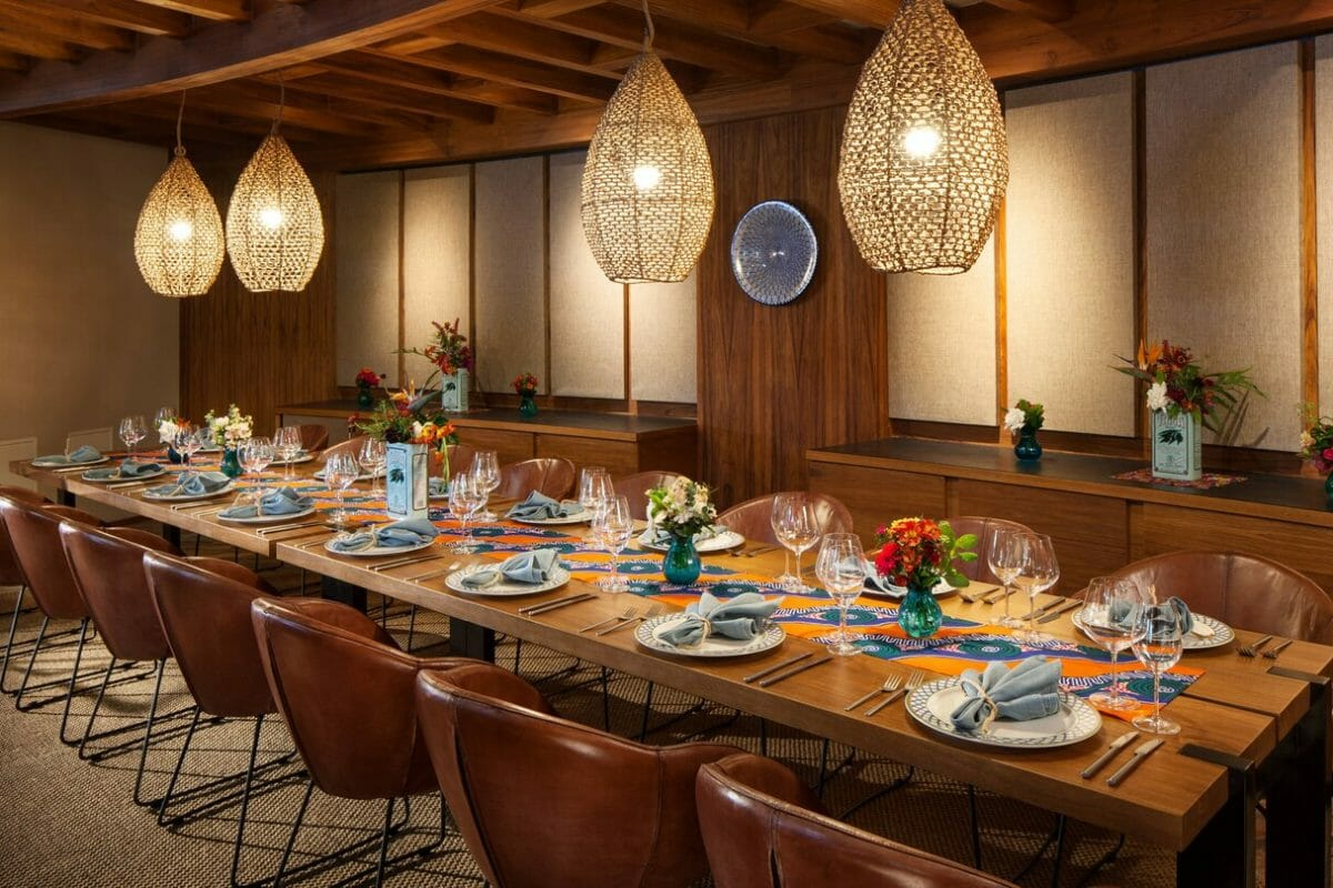 Private dining table available to groups at Meridia restaurant at Westin Hapuna Beach Resort