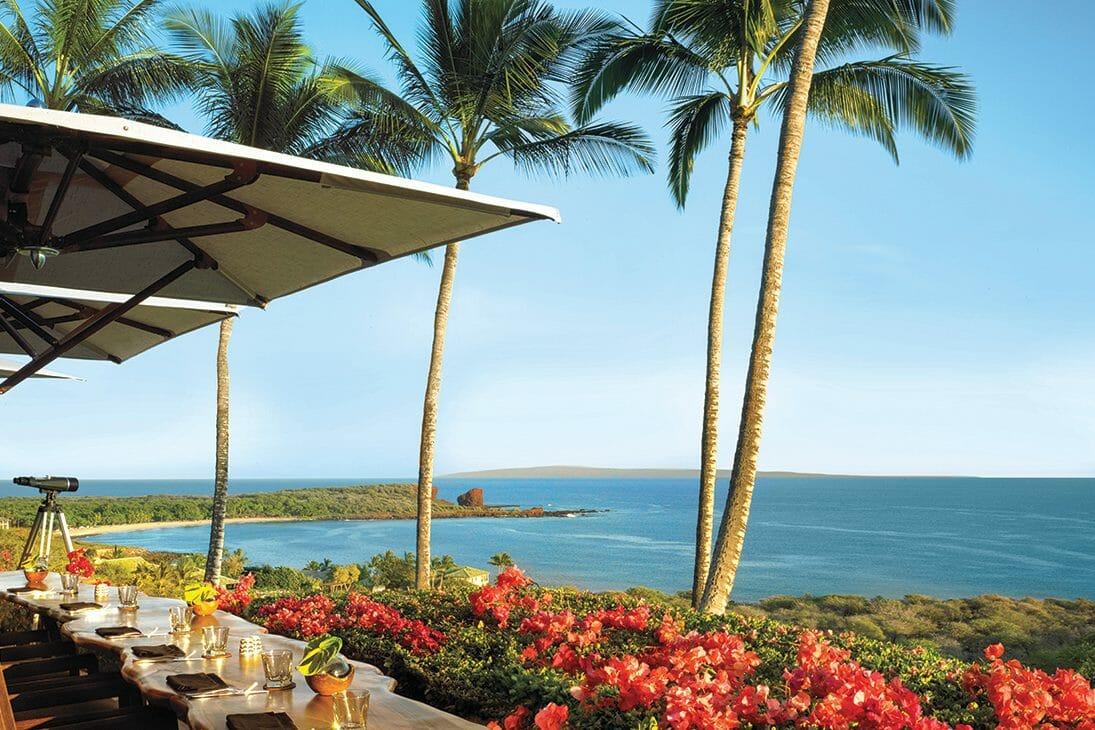 Pacific Ocean Views greet guests at the Four Seasons Resort restaurants