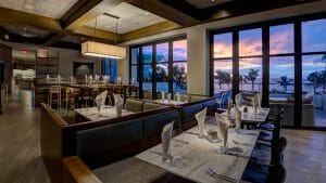 Interior view of the fine dining set up at Wailea Beach Resort