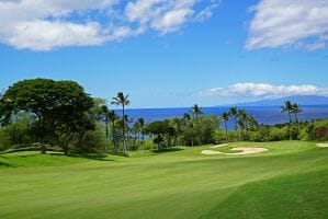 Open fairways offer tranquil views of the ocean on the Gold Course