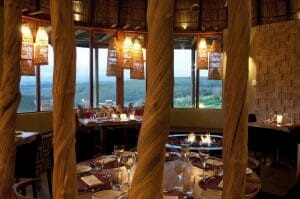 Fine dining within the Kwena Restaurant at Gondwana Game Reserve