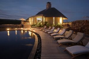 Outdoor pool with lighting at Gondwana Game Reserve