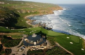 Pinnacle Point clubhouse overlooking the golf course and coastline