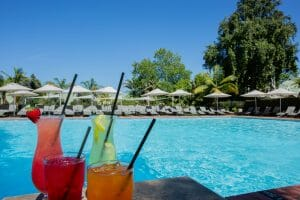 Assored cocktails available at Fancourt Resort Outdoor pool