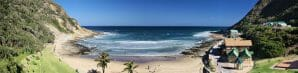 Panoramic view of Victoria Bay in South Africa