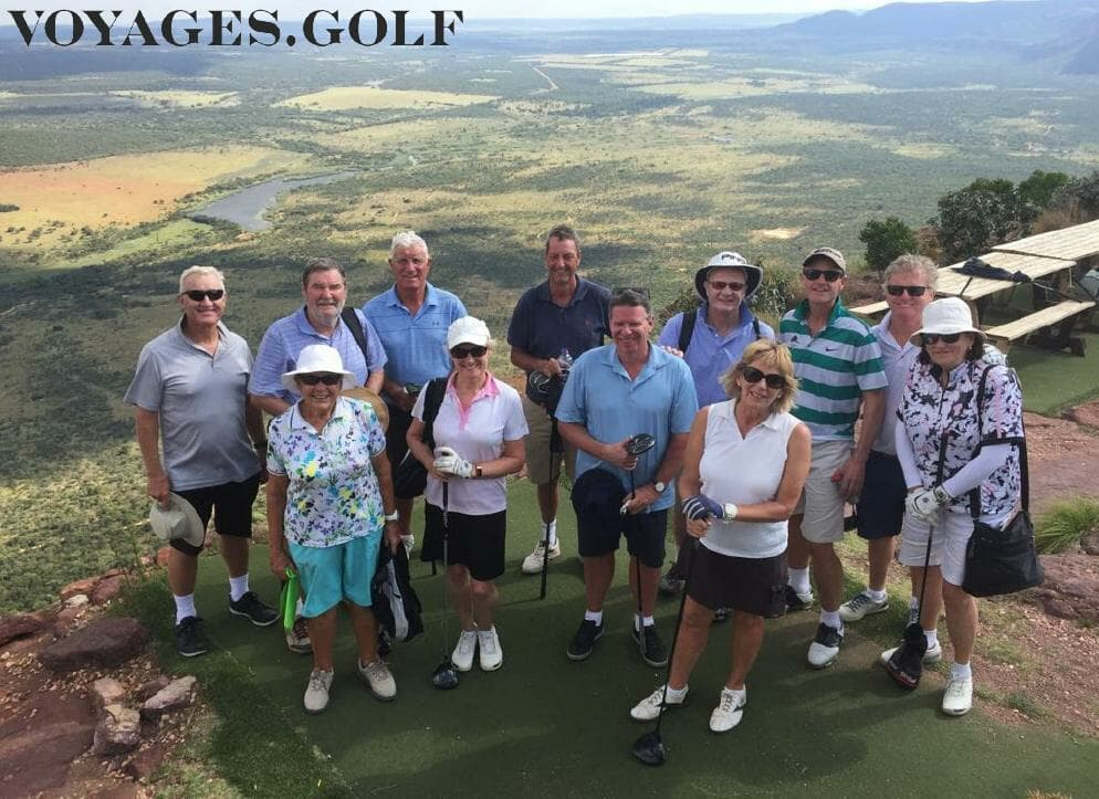 South Africa Golf Tour with Voyages.golf superimposed