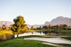 Pearl Valley's golf course at dusk