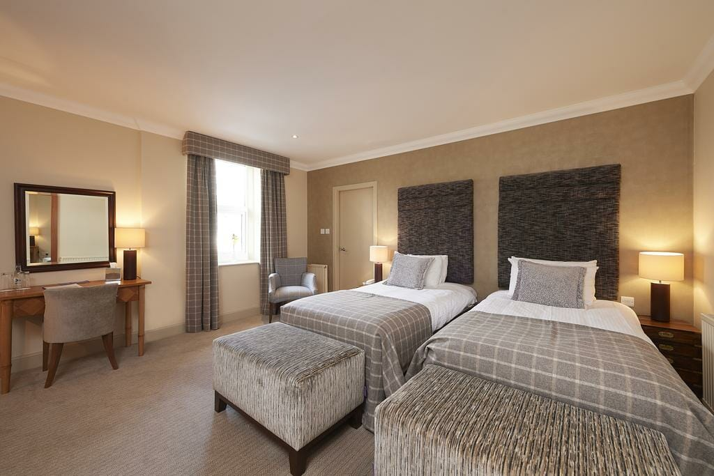 Twin beds at the Royal Golf Hotel in Dornoch