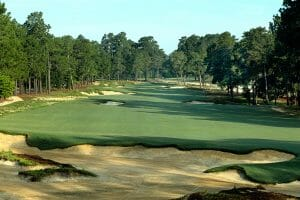 Large bunkers on Pinehurst No. 4 golf course