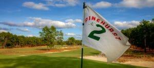 Pinehurst flag overlooking the golf course