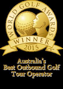 World Golf Award Winner 2015 Badge