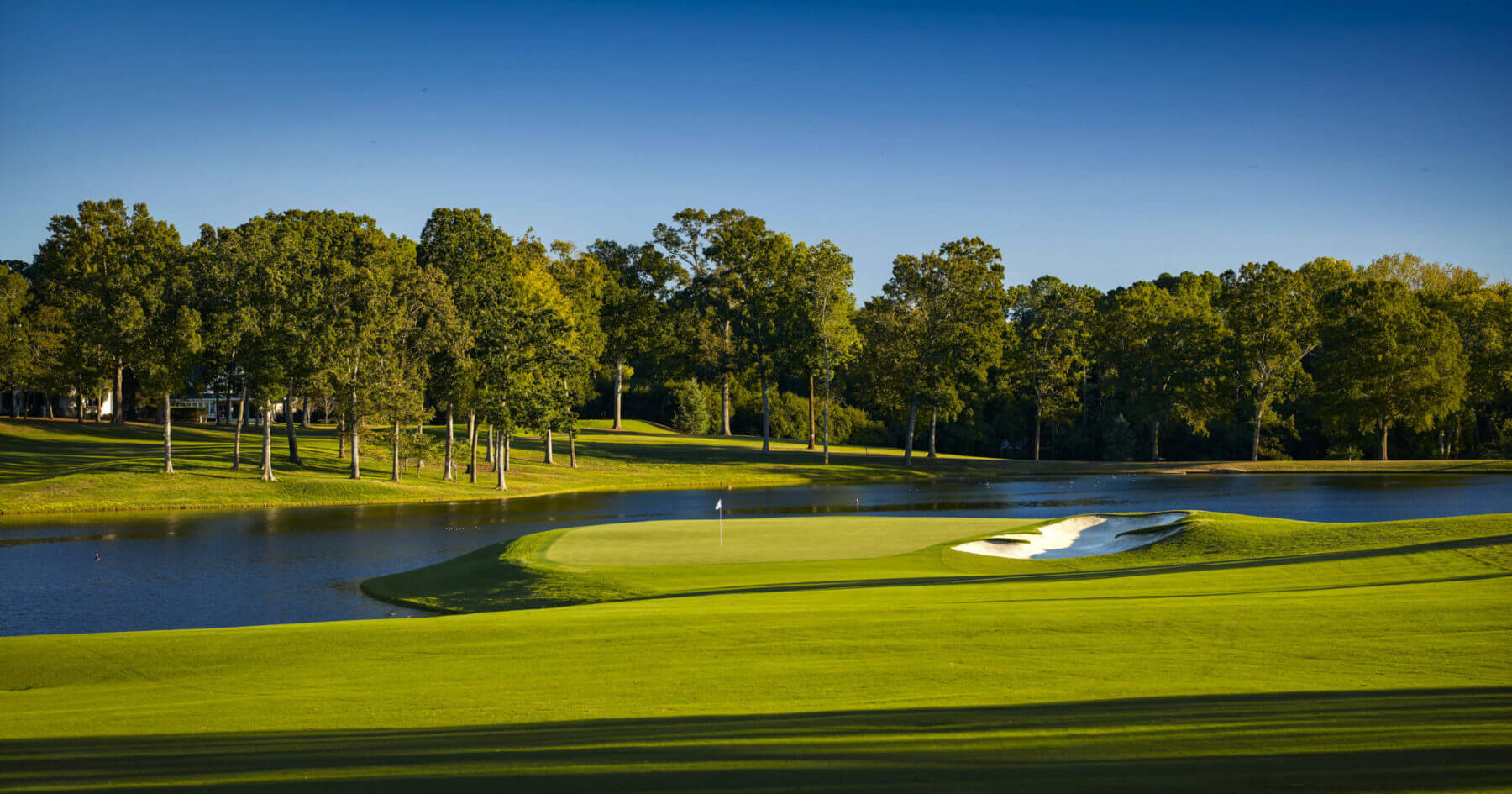 Island green at Quail Hollow Club golf course