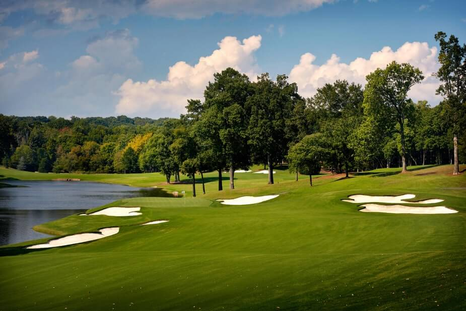 Quail Hollow golf course and lake in Charlotte North Carolina